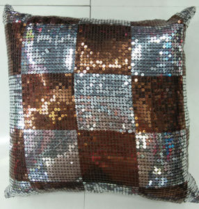 Sequin Embroidery Cushion Fashion Decorative Pillow (XPL-14) pictures & photos