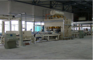 Semi-Automatic Short Cycle Lamination Hot Press Line for MDF/Particle Board/Plywood pictures & photos