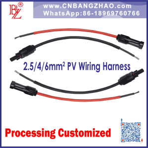 1000V/1500VDC Solar Cable Wire with Famale and Male Mc4 Connectors Wiring Harness pictures & photos