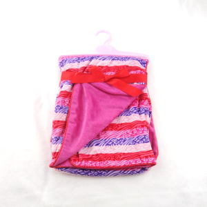Printed Micro Mink Minky Back Baby Blanket Cr100 pictures & photos