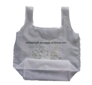 Wholesale Reusable Folding Nylon Tote Bag with Foldable Pouch pictures & photos
