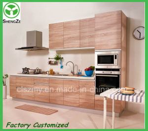 Shandong Cheap Lower Price Wood Grain Kitchen Furniture pictures & photos