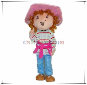 Very Beautiful Strawberry Girl Cartoon Mascot Costume