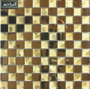 Floor/Wall Tile Mosaic, Crystal Glass Mosaic (VM23001)