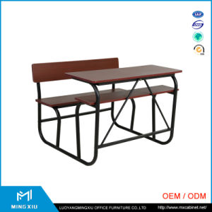 Luoyang Mingxiu Supplier Low Price Used School Desks/ School Desk with Bench pictures & photos