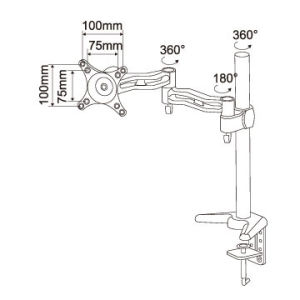 Vesa Monitor Arm Stand for 13′′-27′′ pictures & photos