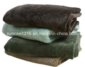 Warm and Light Coral Waffle Blanket Sr-B170211-26 Super Soft Blanket pictures & photos