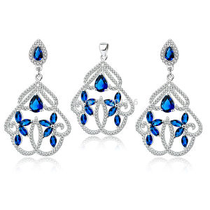 Hot Sales 925 Silver Jewelry Set with Blue Gemstone pictures & photos