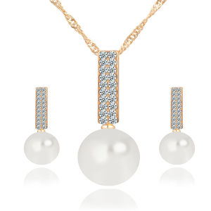 18k Gold Dimond Jewelry Set Pearl 925 Sterling Silver pictures & photos