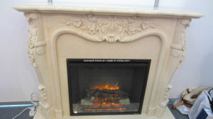Marble Fireplace and Mantel for Living Room