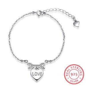 2017 New Design Romantic Fashion 925 Sterling Steel Bracelet Heart Shape Love pictures & photos
