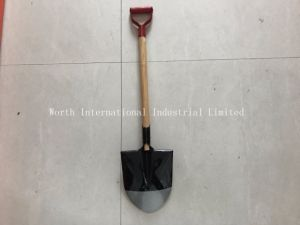 Red Grip Wooden Handle Shovel pictures & photos