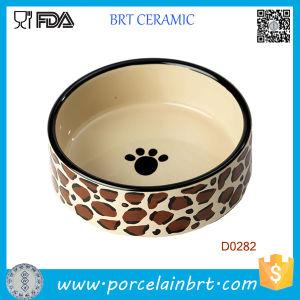 Dog Paw Painting Round Shape Porcelain Wholesale Dog Bowl pictures & photos