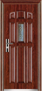 China Low Prices Steel Door (WX-S-174) pictures & photos