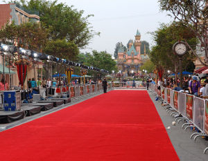 Outdoor Walkway Need Punch Polyester PE Yarn Fabric Exhibition Event Wedding Wed Aisle Roll Runner Stair Corridor Office Event Exhibit Red Floor Carpets pictures & photos