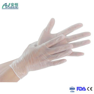 Powder-Free Clear Vinyl Plastic Disposable Gloves Large Size Hot Sale pictures & photos