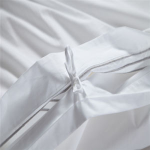Hotel Deluxe Cotton Satin Bed Sheets pictures & photos