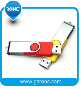 Hot Sales Rotation USB Stick with Logo Printed pictures & photos