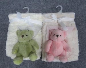 Coral Fleece Baby Blanket with Plush Toy -Tiger pictures & photos