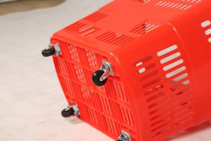 80L Large Shopping Basket with Wheels pictures & photos