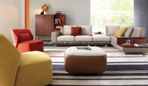 Popular 3 Seater Living Room Furniture Fabric Sofa Set pictures & photos