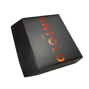Custom Black Straight Tuck End Paper Box pictures & photos
