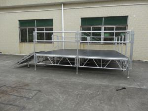 Aluminum Concert Stage with Brace and Adjustable Legs for Event pictures & photos