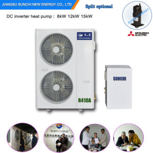 -25c Winter Floor Heating100~350sq Meter Room +55c Hot Water Shower 12kw/19kw/35kw/70kw No Ice Air Source Evi Heat Pump for Home pictures & photos