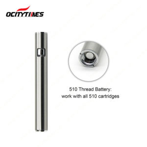 Electronic Cigarette Rechargeable 510 Button Battery with Custom Logo pictures & photos