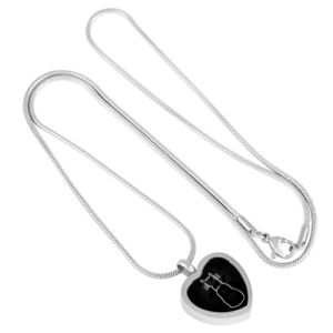 Heart Stainless Steel Lonely Cat Engraved Pet Cremation Pendant Necklace pictures & photos