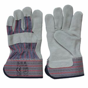 Full Palm Leather Cut Resistant Work Rigger Gloves pictures & photos
