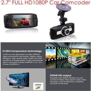 """2.7"""" GPS Tracker Car Camera Video Recorder with GPS Receiver Antenna, Google Map Play Back Tracking; 5.0mega FHD1080p Car Black Box, Parking Control Cam pictures & photos"""