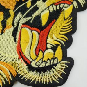 Tiger Head Garment Patch Sew on Clothing, Bag, Curtain Applique Embroidered Animal Head Patch pictures & photos