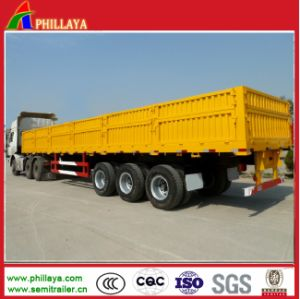 Side Wall Heavy Duty Truck Trailer with Flatbed Loading Deck pictures & photos
