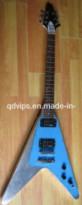 Flying V Style Aluminum Electric Guitar - 1