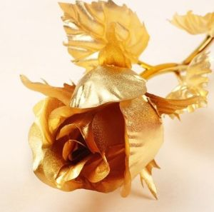 Valentine′s Gift Gold Rose Dipped in 24k Gold (OPEN ROSE)