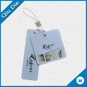 Custom Printed Paper Garment /Clothing Hang Tag with Matching String Attachments pictures & photos