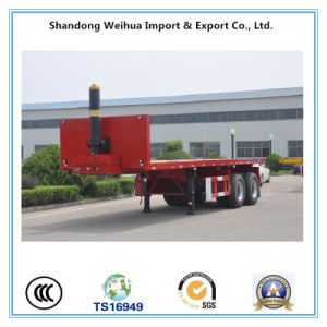 20FT / 40FT Flatbed Container Semi Trailer with Self-Dump Function pictures & photos