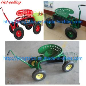 China Wheeled Garden Seat TC1852 Garden Cart Garden Wagon