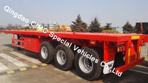 40FT Semi Truck Flatbed Trailer with 3 Axles pictures & photos
