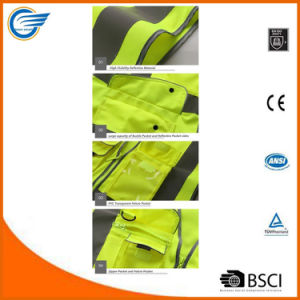 Yellow High Visibility Reflective Safety Vest Meets ANSI/Isea Standards pictures & photos