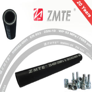 DIN / En 856 4sp Flexible High Impulse Hydraulic Rubber Hose pictures & photos