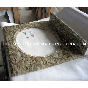 Design Natural Granite Tile Countertop, Granite Stone Kitchen Vanity Backsplash pictures & photos