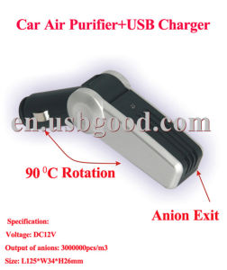 Ion Generator for Air Purification + USB Charger
