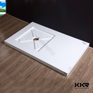 Rectangle Corian Solid Surface Shower Tray for Bathroom pictures & photos
