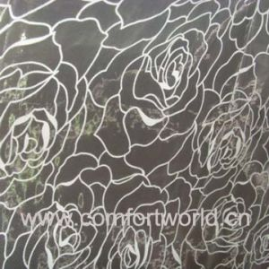 Flocking Organza Curtain Fabric (SHCL00869) pictures & photos