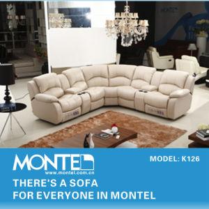 Modern Recliner Sofa Set, Genuine Leather Recliner Sofa Design