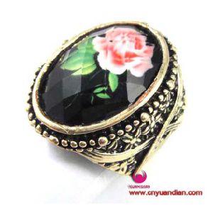 Flower Resin Ston Fashion Metal Jewelry Ring