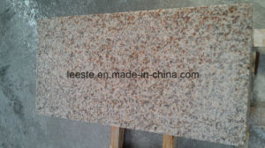 Polished Natural Stone G682 Golden Peach Yellow Rusty Granite Stairs Tile pictures & photos