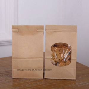 "Bakery Bags Wax Kraft Paper Bags 50PCS 3.54X2.36X6.7"" Tin Tie Tab Lock Bags pictures & photos"